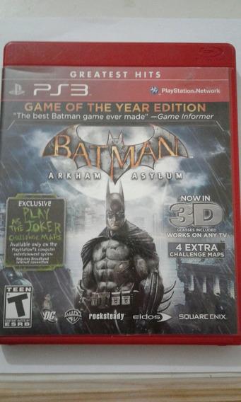 Game Original Ps3 Batman Arkham Asylum