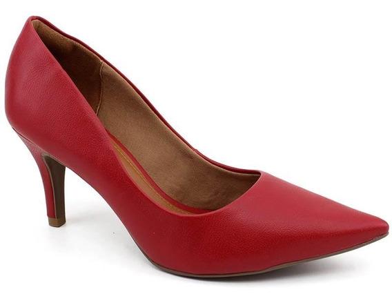 Sapato Scarpin Feminino Bebecê 7060-104 Vermelho Loja Pixolé
