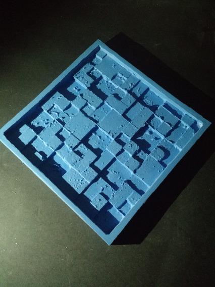 Silicone 100% Forma Placas Gesso 3d Pedra São Tomé 30x30 Cm