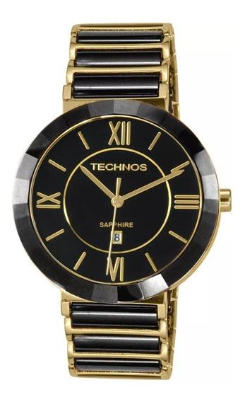 Relógio Technos Elegance Safira Cerâmica 2015bv/4p Original