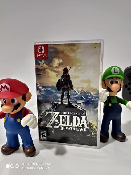 Jogo Zelda Breath Of Wild Switch Semi-novo Impecável