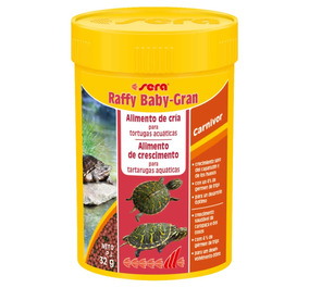 Sera Reptil Raffy Baby Gran 32g ( Tigre D´água Filhote )