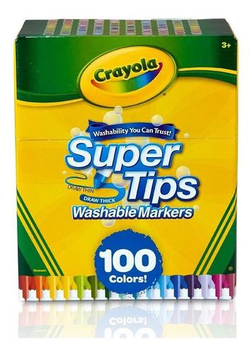 Crayola Super Tips 100 Plumones Lavables Niños - Stock