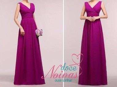 Vestido Longo Madrinha Formatura Roxo Purpura