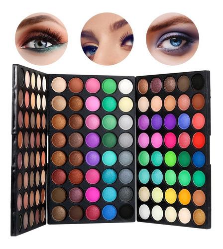 Imagen 1 de 8 de Juego De Paleta De Sombras De Ojos De 120 Colores