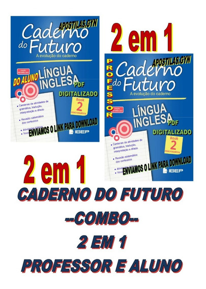 Caderno Do Futuro Ingles 7 Ano Book 2 Do Aluno E Do Professo