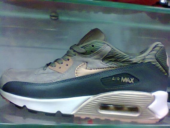 Tenis Nike Air Max 90 Marrom/preto/dourado Nº34 Original