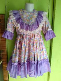 Vestido De Huasa, Niña, Talla 6/7 $3000