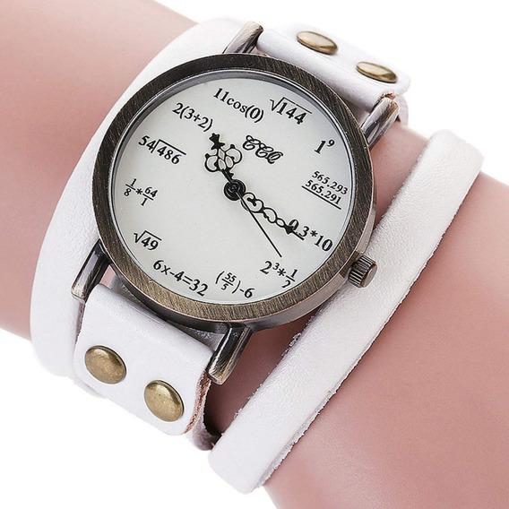 Relógio Criativo Formulas Matemáticas Pulseira Bracelete