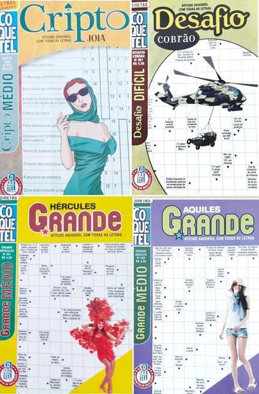 Kit Revenda 50 Cruzadas / Cripto Médio/ Difícil / Coquetel