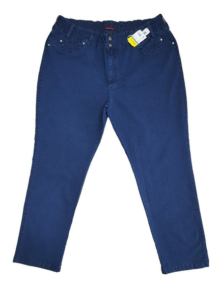 Calça Jeans Feminina Plus Size Do 60 Ao 66