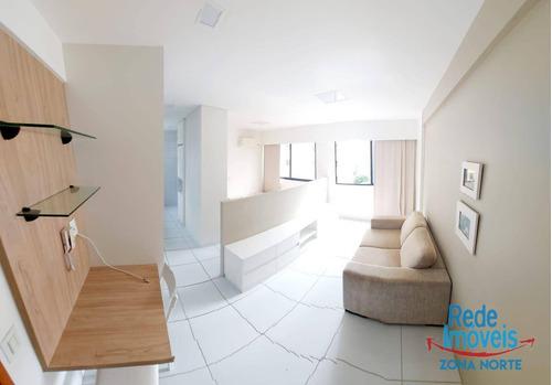 Flat Com 1 Quarto Mobiliado Para Alugar, 32 M² Por R$ 1.750/taxas Incusas-mês - Parnamirim - Recife/pe - Fl0033