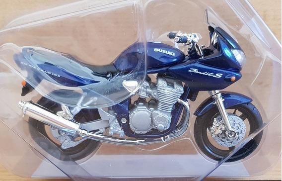 Miniatura Suzuki Bandit S Azul - Escala 1:18 - Raro, Lacrado