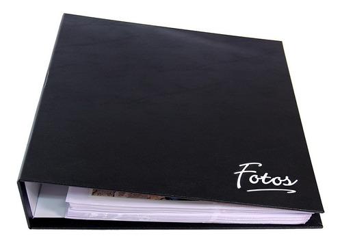 Álbum 1000 Fotos 10x15 - Corino -  Preto - Ferragem