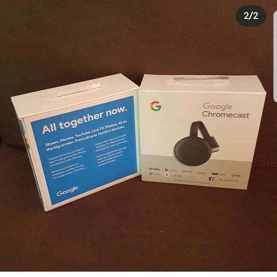 Streaming Media Chromecast 3rd Original Pronta Entrega 512mb