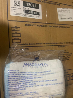 Barbijo Triple C/tiras Descartable Anadelia (x25 Unidades)