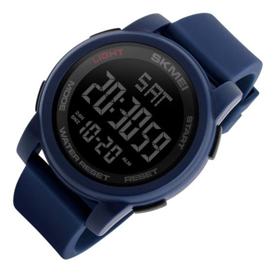 Relógio Masculino Skmei 1257 Dig Led Azul Sport