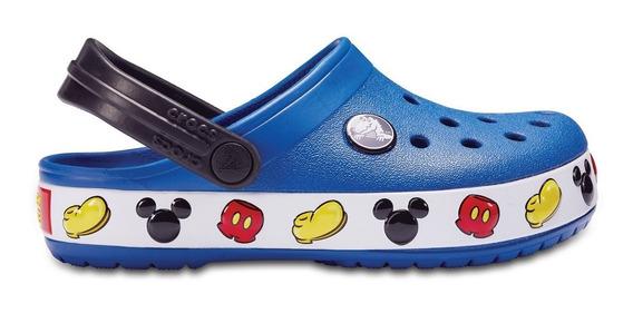 Crocs Crocband Mickey Blue Jean Disney Azul Niños