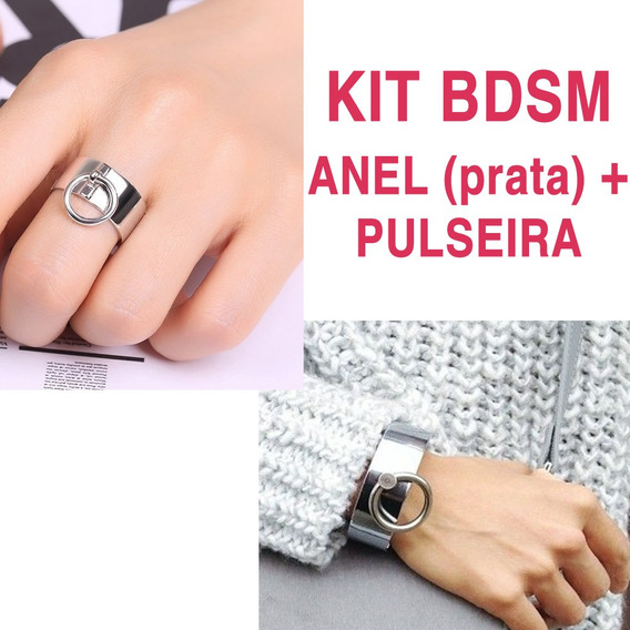 Kit Bdsm Social - Anel + Pulseira/algema