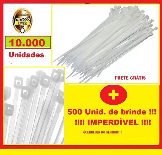 Lacre De Plástico Br 10.000un. 5x380mm + (500 Unid. Brinde)