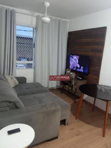 Apartamento Com 2 Dormitórios À Venda, 45 M² Por R$ 210.000,00 - Ponte Grande - Guarulhos/sp - Ap2247