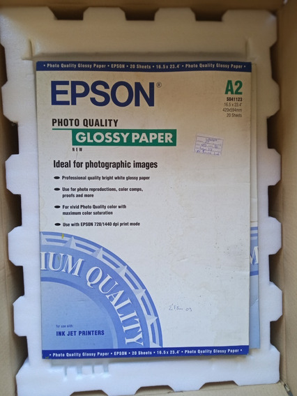 Papel Epson S041123 Papel Fotográfico Branco Brilho A2