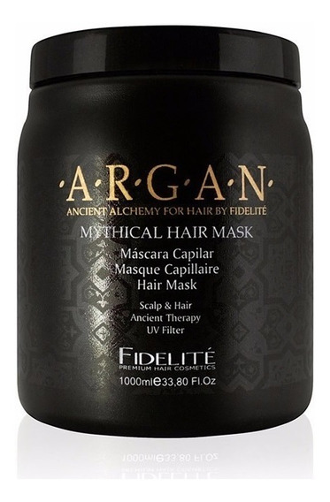 Fidelite Mascara Capilar Mythical Argan 1000 Ml Negra