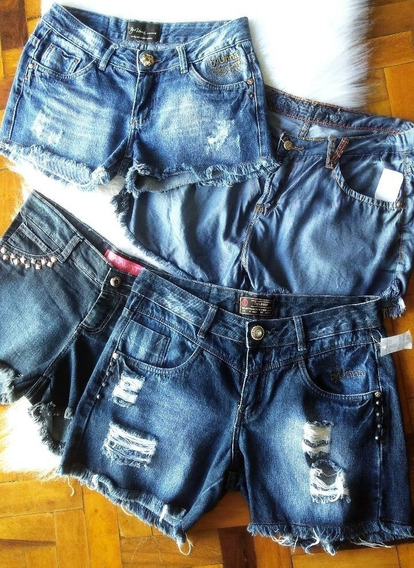 Lote De 20 Peças De Shorts Calções Jeans Femininas