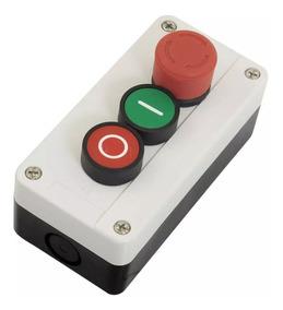 Botoeira Com Botão Liga/desliga +botão De Emergência
