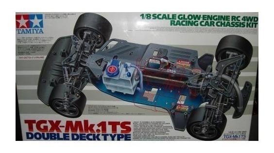 Tamiya Tgx-mk1 Ts Double Deck Type Rc 1/8 Kit Sem Motor