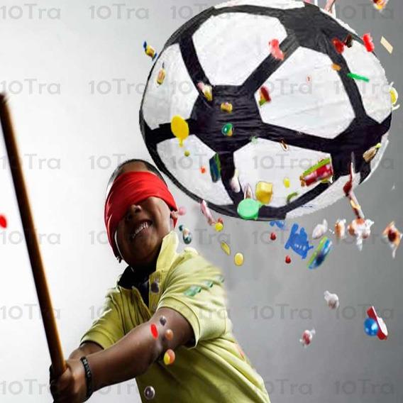Piñata Pelota De Futbol Mexicana Papel Fiesta Deco