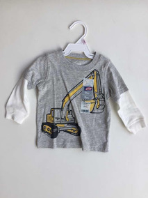 Carters Camiseta Manga Comprida Desenho De Maquina Masc 9m
