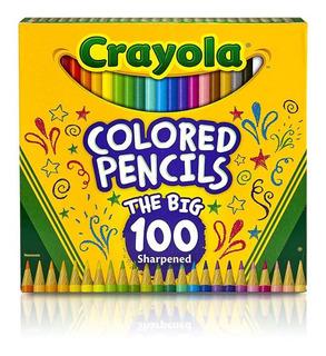 Crayola 100 Colores De Madera P/ Arte Y Libros D Color *full