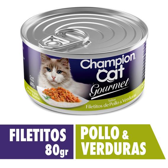 Champion Cat Gourmet Filetitos De Po&ve 24x80 G