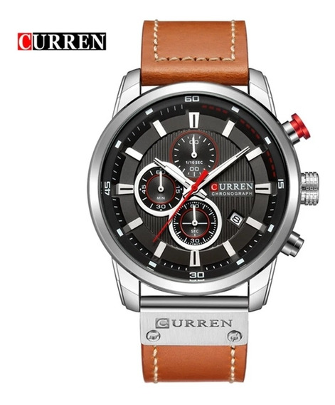 Relógio Curren Masculino 8291 Com Cronógrafo A Prova D