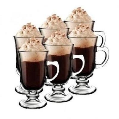Kit Conjunto 6 Xicara De Vidro Cappucino Cafe Dolce Gusto