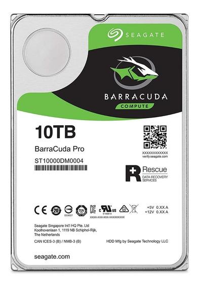 Hd Seagate 10 Tb Pro Sata3 256mb 7200rpm Desktop