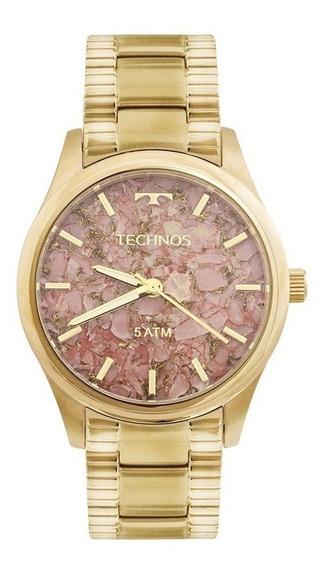 Relógio Technos Feminino 2033cn/4t Stone Collection-dourado