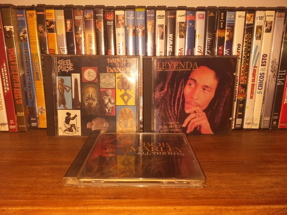Lote 3 Cd Bob Marley Steel Pulse Reggae