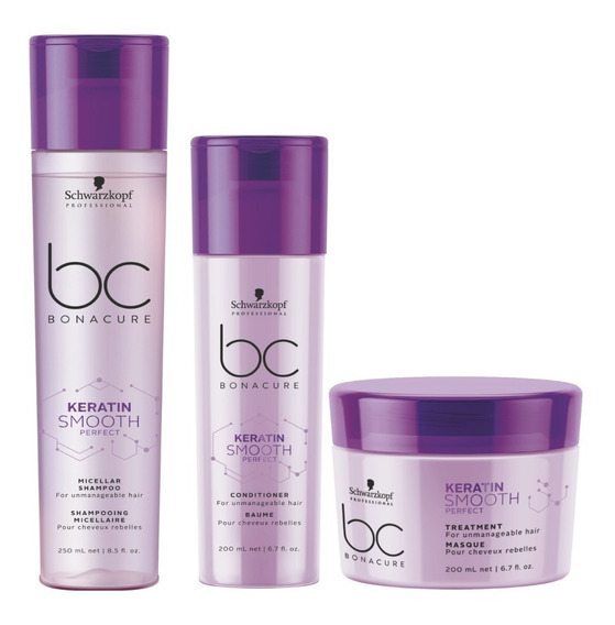 Schwarzkopf Bonacure Keratin Smooth Perfect Trio 3 Produtos