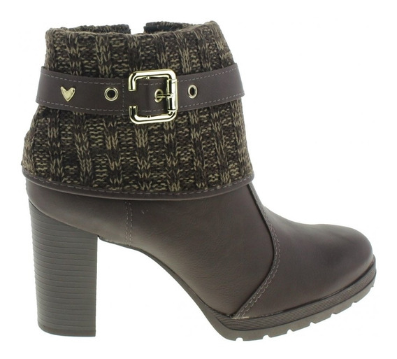 Bota Ankle Boots Mississipi X9172 Feminina Salto