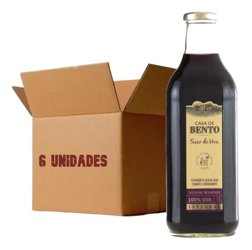 Imagem 1 de 4 de 6x Suco De Uva Casa De Bento 1l