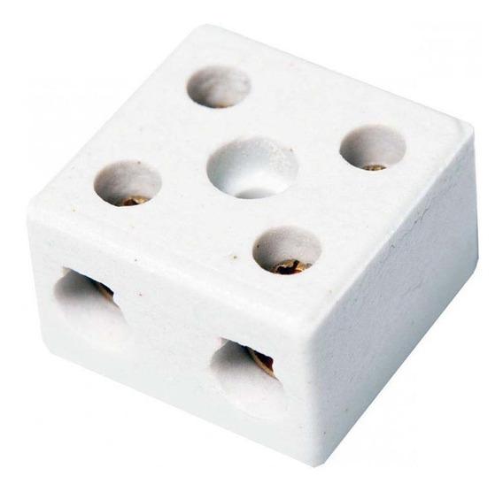 Kit C/ 10 Conector Porcelana Grande 16mm 2 Polos Interneed