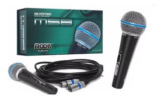 Micrófono Moon M58 Con Cable Xlr Profesional Dinámico