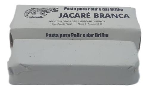 Massa Polimento Jacaré Branca Inox Aluminio Motor Tanque 400