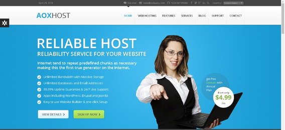 Aoxhost Template Html5 - Responsivo