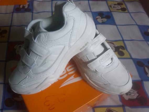 Zapatos Deportivos Escolares Blancos Talle 38 Nuevos