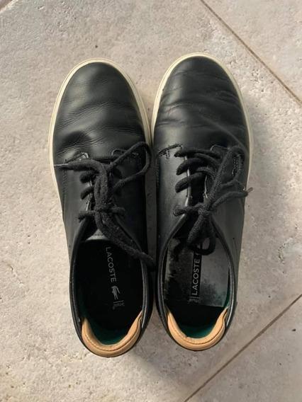 Zapatillas De Cuero Lacoste (hombre)