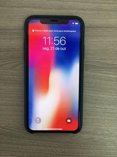 Apple iPhone X 256 Gb Preto Com Capinha