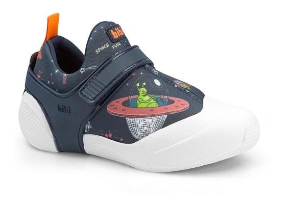 Tênis Infantil Bibi 2way Mas Marinho Estamp Espaço - 1093090